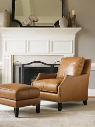 Chairs With Ottomans For Living Room Butterscotch Leather Chair And Ottoman From Lexington Furniture