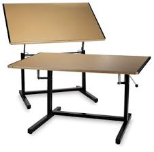 Blick Drafting Table Mayline Dual Adjustment Drafting Table 60w Times 37frac12 D By