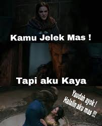 Mentahan Meme - lokid 10 gambar lucu meme beauty and the beast romantis begete sob