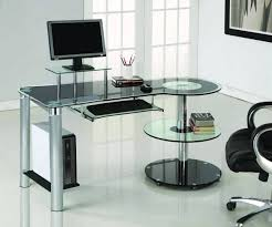 Modern Glass Desk With Drawers Stylish Modern Glass Desk Pertaining To Office Accessories Gold