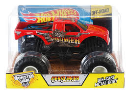 monster trucks videos 2013 amazon com wheels monster jam 1 24 scale gunslinger vehicle