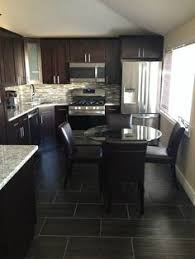 Dark Shaker Kitchen Cabinets Like The Gas Stove Oven I Also Like The Light Floors With The