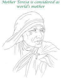 mother teresa coloring page saints coloring pages free 3743