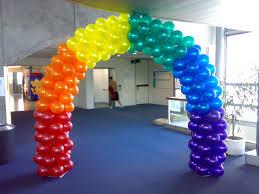rainbow block arch arch air filled framed pinterest