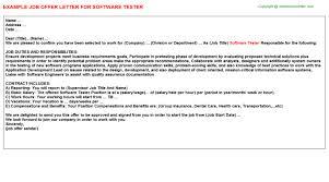 Software Testing Resume For Fresher Doc Software Tester Offer Letter