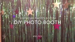 photo booth for diy birthday photo booth