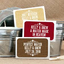 wedding favor matches personalized rustic matchbox wedding favors set of 50