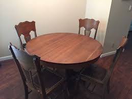 Solid Oak Dining Table Antique Oak Dining Table Ebay