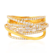 designs gold rings images Pave diamond and yellow gold ring 18k gold ring gemco designs jpg