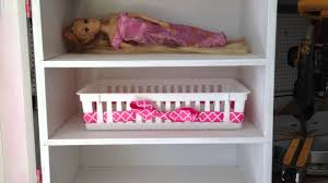 home built doll wardrobe closet organizer for american