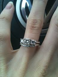 stone bands rings images Show me your 3 stone rings with wedding band updated with pics jpg