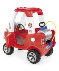little tikes cozy fire truck ride on zulily