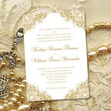 vintage wedding invitations gold vintage wedding invitations or 50th wedding