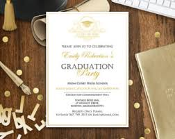 college graduation announcement template graduation announcement printable navy gold college graduation