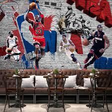graffiti boys bedroom 3d basketball wallpaper custom graffiti brick wall mural hd image