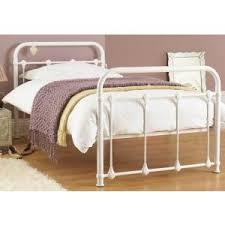 Single Beds Metal Frame Purity Single White Metal Bed Frame Children S Bedroom