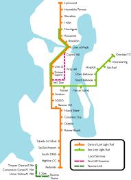 light rail map seattle seattle metro map