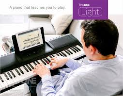 keyboard that lights up to teach you how to play teach user to play the one light 61 keys usb smart piano keyboard
