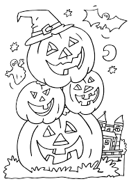 download halloween colouring pages kids colour print