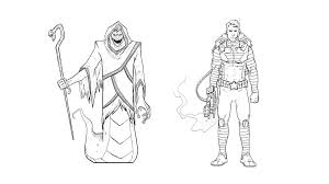 drawing good and evil comic book characters