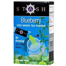 blueberry green iced tea powder stash tea