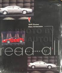 1999 pontiac grand prix repair shop manual original set