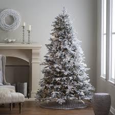lightly flocked christmas tree lightly flocked snowbell pine pre lit full christmas tree