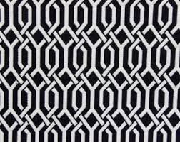 Black And White Drapery Fabric Japanese Curtains Etsy