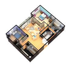 Residential Floor Plan Design Ground Floor Plan For Home 3d 3 Bedroom House Floor Plan 3d 3d