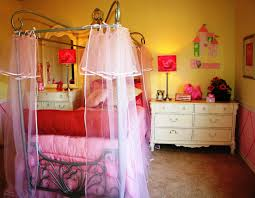 girls bed with canopy cute girls room ideas
