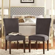 Linen Dining Chair Slipcovers by Homesullivan Nobleton Grey Linen Dining Chair Set Of 2 405048sak