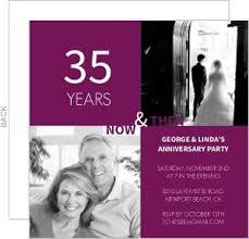 35 wedding anniversary 35th anniversary invitations