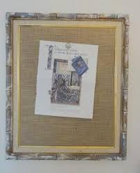 large framed burlap bulletin board memo board office decor