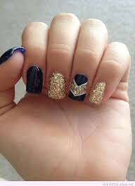 navy and gold glitter nail art design nails pinterest