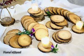 wooden party favors rustic wedding coasters table decoration ash wood jar