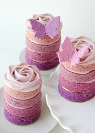 purple ombre mini cakes u2013 glorious treats