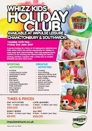 leisure opportunities 30th may 2017 whizz impulse leisure chanctonbury
