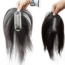 wigs for women with thinning hair amazon com remeehi 8 clip in human hair topper for thinning