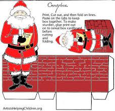 templates printable christmas paper crafts make a santa clause