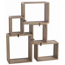 arteriors stockard shelves five piece wood modular shelving unit