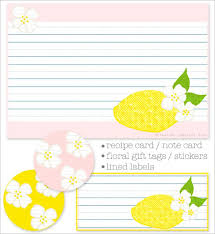 27 sets of free printable recipe cards