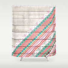 Coral And Turquoise Curtains Fancy Coral Shower Curtains And Turquoise And Coral Shower Curtain