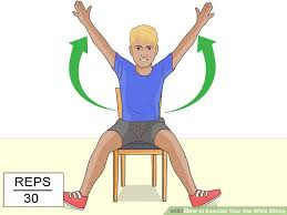 Chair Cardio Exercises 7 Easy Ways To Exercise Your Abs While Sitting Wikihow