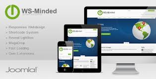 ws minded responsive joomla template by ws theme themeforest