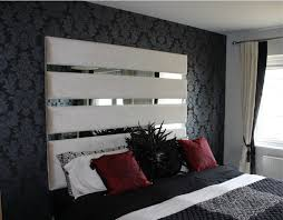 Cushioned Headboards For Beds by Upholstered Headboard With Mirrors Bedroom Design Pinterest