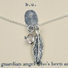 angel necklace images Guardian angel quartz necklace feather charm quartz bezel bu jpg