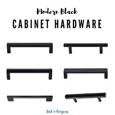 black kitchen cabinet hardware ideas 6 modern black cabinet pulls list in progress