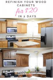 gel stain kitchen cabinets before and after how to refinish wood cabinets the easy way remodeled
