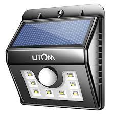 litom solar lights outdoor amazon com litom bright 8 led solar lights motion sensor light
