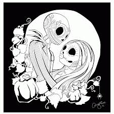 nightmare before christmas coloring pages printable coloring home